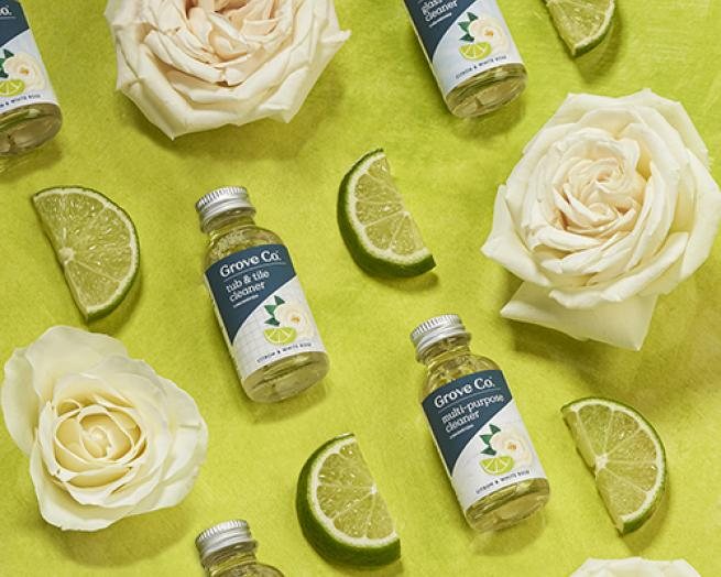 roses, limes and bottles