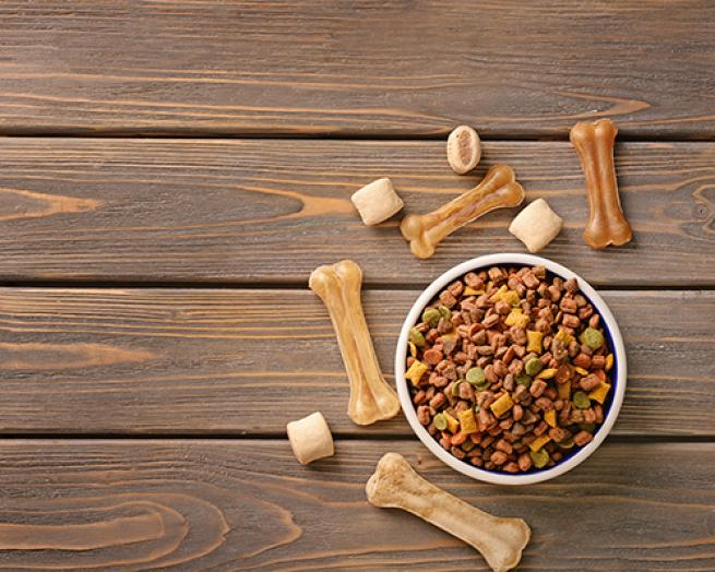 a close up of food on a wooden table